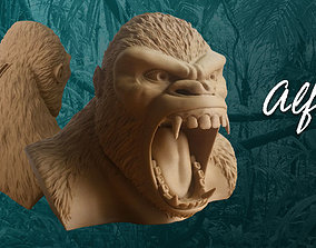 Gorilla piggy bank 3D printable model