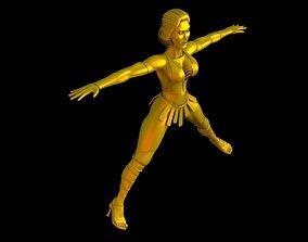 3D printable model women warrior