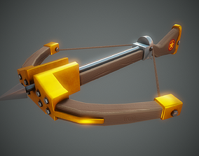 Stylized Crossbow - Tutorial Included 3D asset