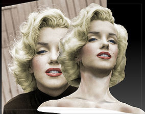 Marilyn Monroe Photorealistic 3D Model monroe
