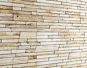 3D model Seamless Stone Wall 3