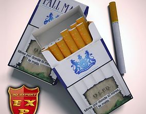 Pall Mall cigarette pack 3D