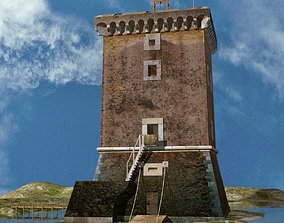3D model Medieval Saracen Tower - XV Century