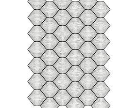 3D model Hexagonal White Wall Panel