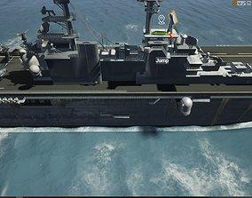 Amphibious Assault Ship and Aircrafts 3D model