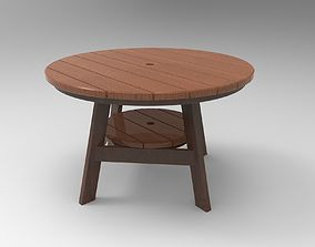 3D model Round Wooden Outdoor Dining Table