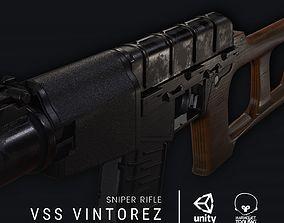 VSS Vintorez - Sniper rifle 3D asset realtime