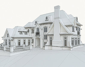 3D asset Luxury Mansion House