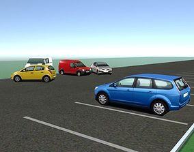 Background Cars - MegaPack 3D asset