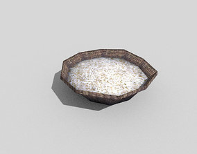 low poly rice 3D model