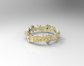 3D print model Ring with grapes