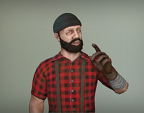 3D asset Lumberjack
