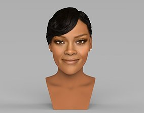 texture Rihanna bust ready for full color 3D printing