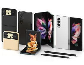 flip 3D Samsung Galaxy Z Fold 3 and Galaxy Z Flip 3
