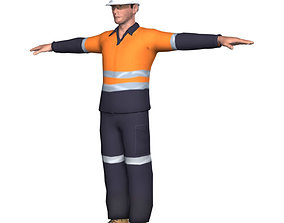 Workman Construction Mining Worker 3D model
