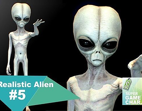 3D asset Realistic Alien 5