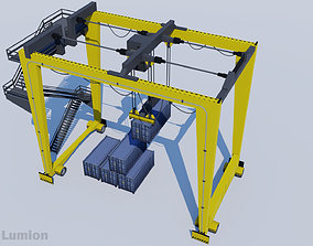Gantry Crane for Harbor - RTG 3D