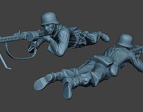 German soldier ww2 MG42 Shoot down G7 3D printable model