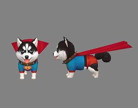 3D asset Cartoon puppy - Super Dog