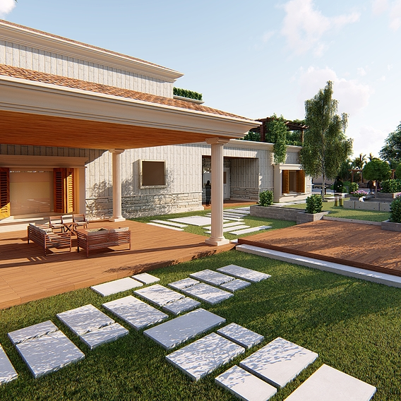 farm house design and redesign along with landscape