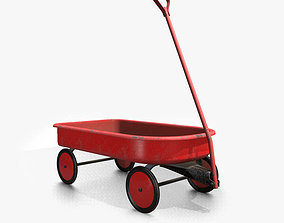 3D model Vintage Toy Wagon