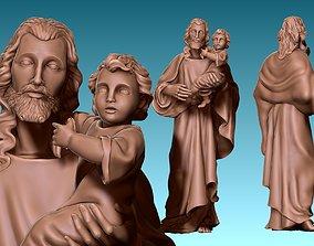 Saint Joseph and Jesus CNC 3D print model