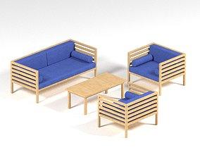 3D model realtime Garden furniture