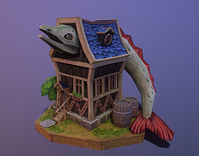 fantasy house 3D model game-ready