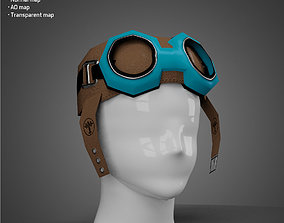 Aviator hat - Low Poly 3D model