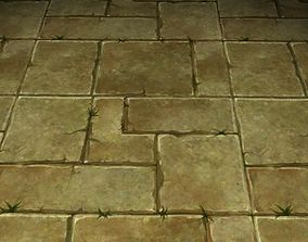 3D ground stone grass tile 15