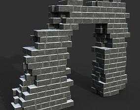 Low poly Ancient Roman Ruin Construction R2 - 3D asset 1