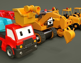 3D asset Vehicle construction site toy - cartoon