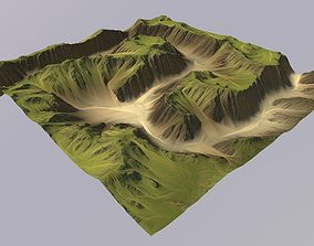 3D Lowpoly Canyon MTH058