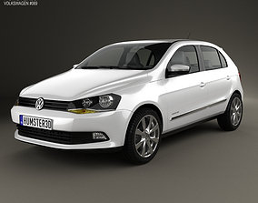3D model Volkswagen Gol 5-door 2012