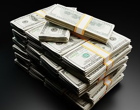 game-ready DOLLAR BILLS 3D MODEL