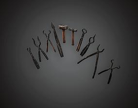MVL -Blacksmith Tools - PBR Game Ready 3D asset