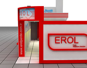 Erol exhibition stand design 3D model