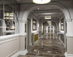 Grand Corridor Tileable Kit 3D model