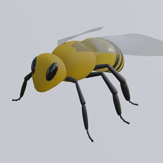 Bee - low poly