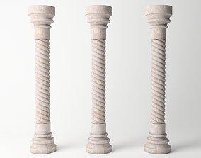 3D asset Antique Column 01