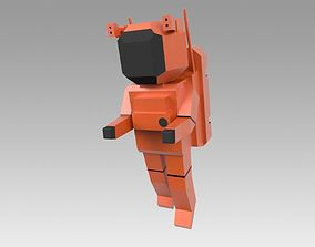 3D model game-ready Astronaut spaceman