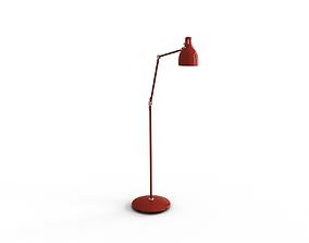 AROD Floor reading lamp with LED bulb 3D model