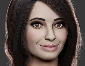 3D model female head sculpt
