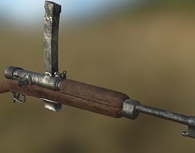 Beretta M1918 3D asset game-ready