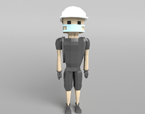 3D asset Low Poly Protestor Type 3