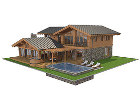 3D Chalet House 2