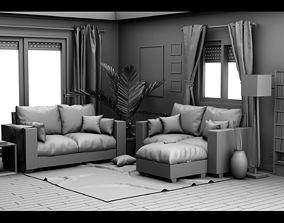 interior living Living Room 3D