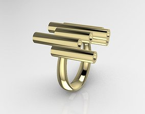 3D printable model Ring with irregular pipes