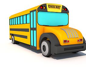 School Bus 3D asset game-ready