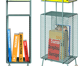 green 3D model bookshelf